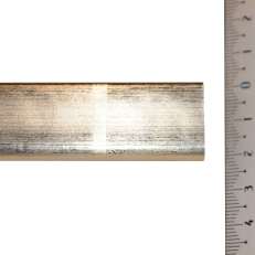 Narrow, distressed, square, white gold frame. 22mm