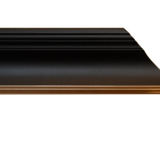 Wide bevelled wood frame with gold inner edge. 50mm.