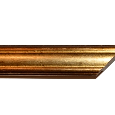 Distressed gold frame with bevelled edges. 30mm