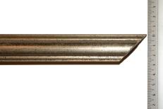 Distressed antique gold, bevelled wood frame. 30mm