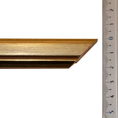 Distresses gold frame with bevelled edges. 20mm