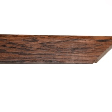 Square, rosewood stained and waxed oak frame with rounded outer edge. 30mm.