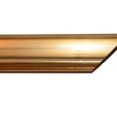 Wide gold frame with bevelled edges. 40mm