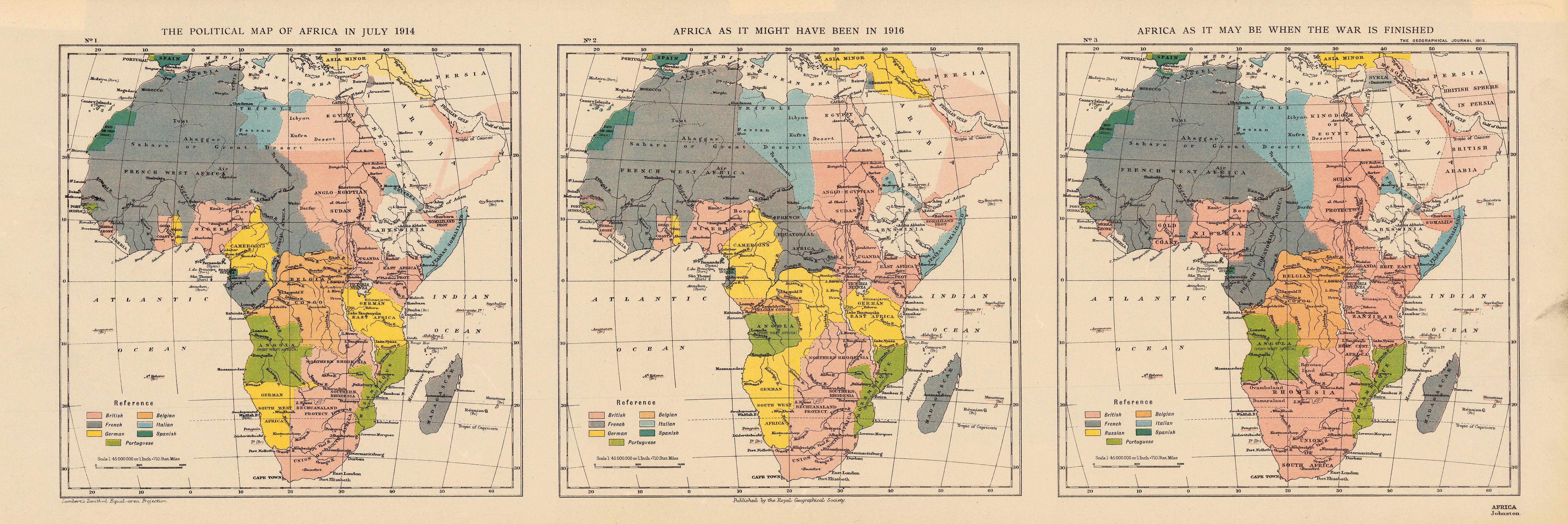 The Political Map of Africa in July 1914 Africa as it Might Have