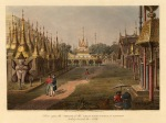 Great Dagon Pagoda: Idyllic scene during the First Anglo-Burmese War. From the first large scale work of Burma.