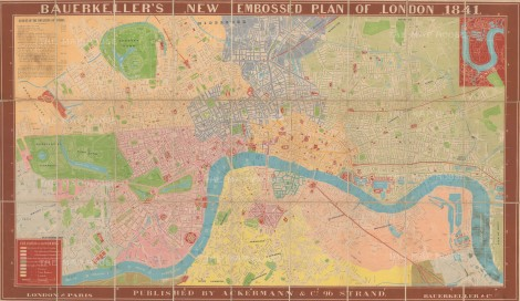 Bauerkeller: Plan of London.1842. [LDN5996]