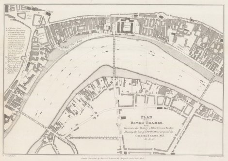 Trench. Thames Improvements. 1825. [LDN6070]
