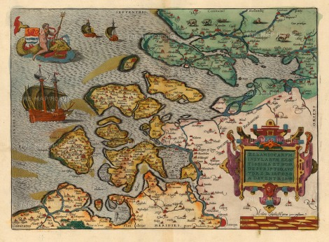 Ortelius: Zeeland Islands. 1596. [NETH1136]