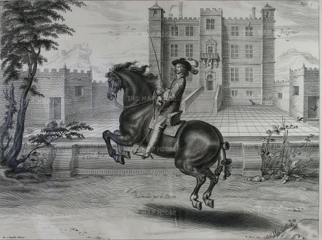 "Duke of Newcastle:: Balottades par la Droite. 1743. An original copper engraving. 21"" x 16"". [NATHISp6370]"