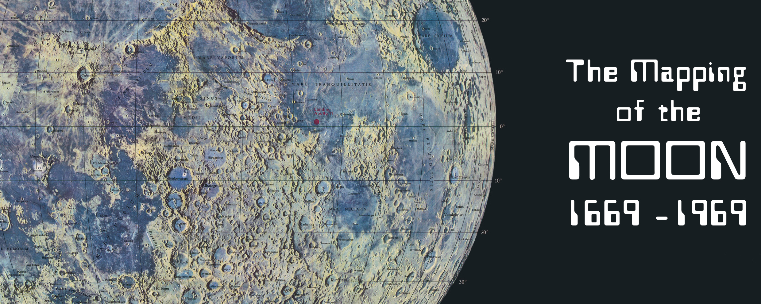 The Mapping of the Moon: 1669 – 1969 | The Map House